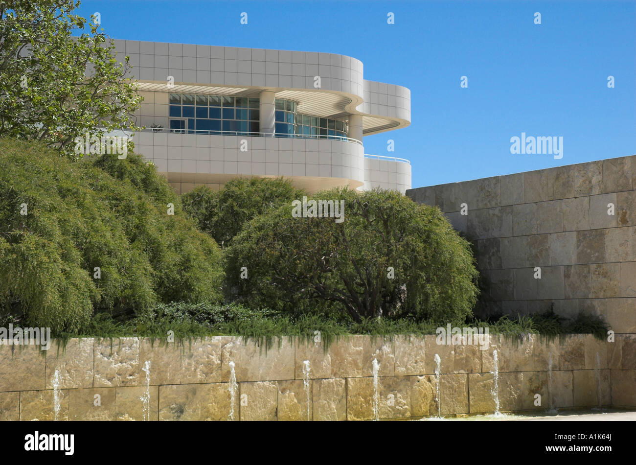 A View of the Getty Center, Los Angeles, California - Stock Image