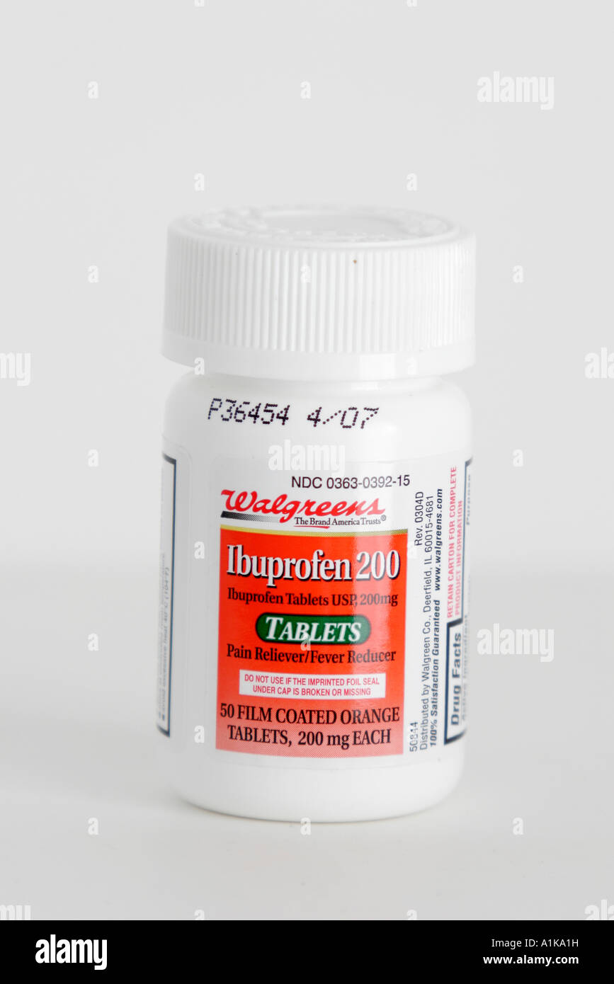 Miami Beach Florida product packaging Walgreens Ibuprofen 200 tablet
