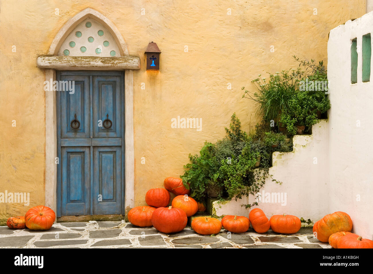 Autumnal decorations in the Greece area, Europapark Rust Stock Photo ...
