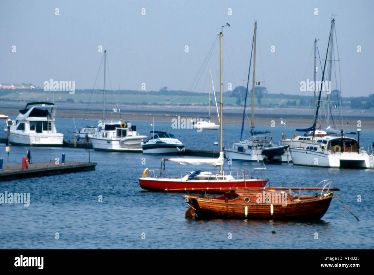 Malahide harbour Ireland - Stock Image