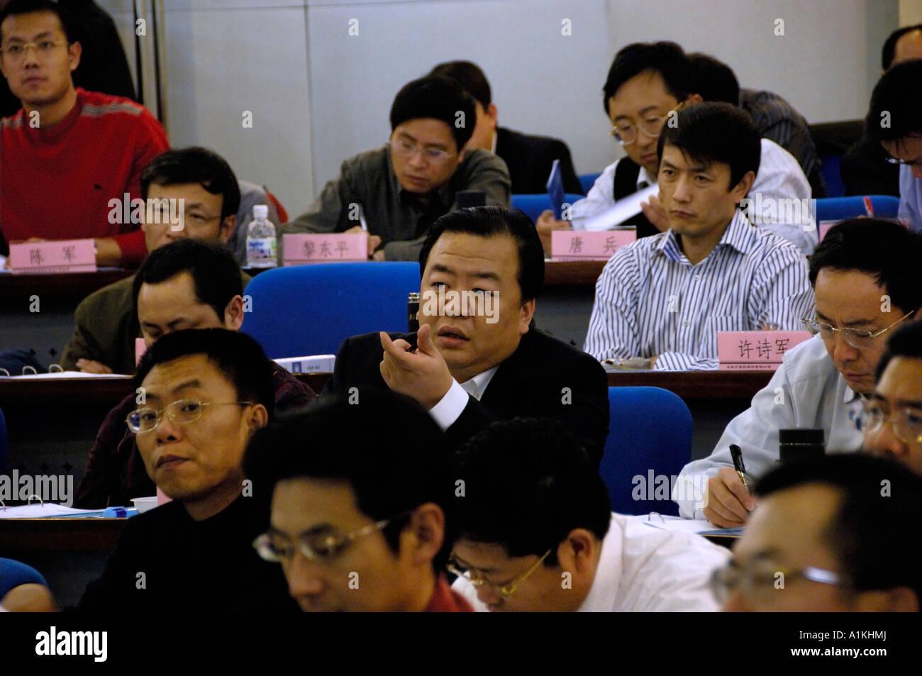 Tsinghua University EMBA class. 11 Nov 2006 - Stock Image