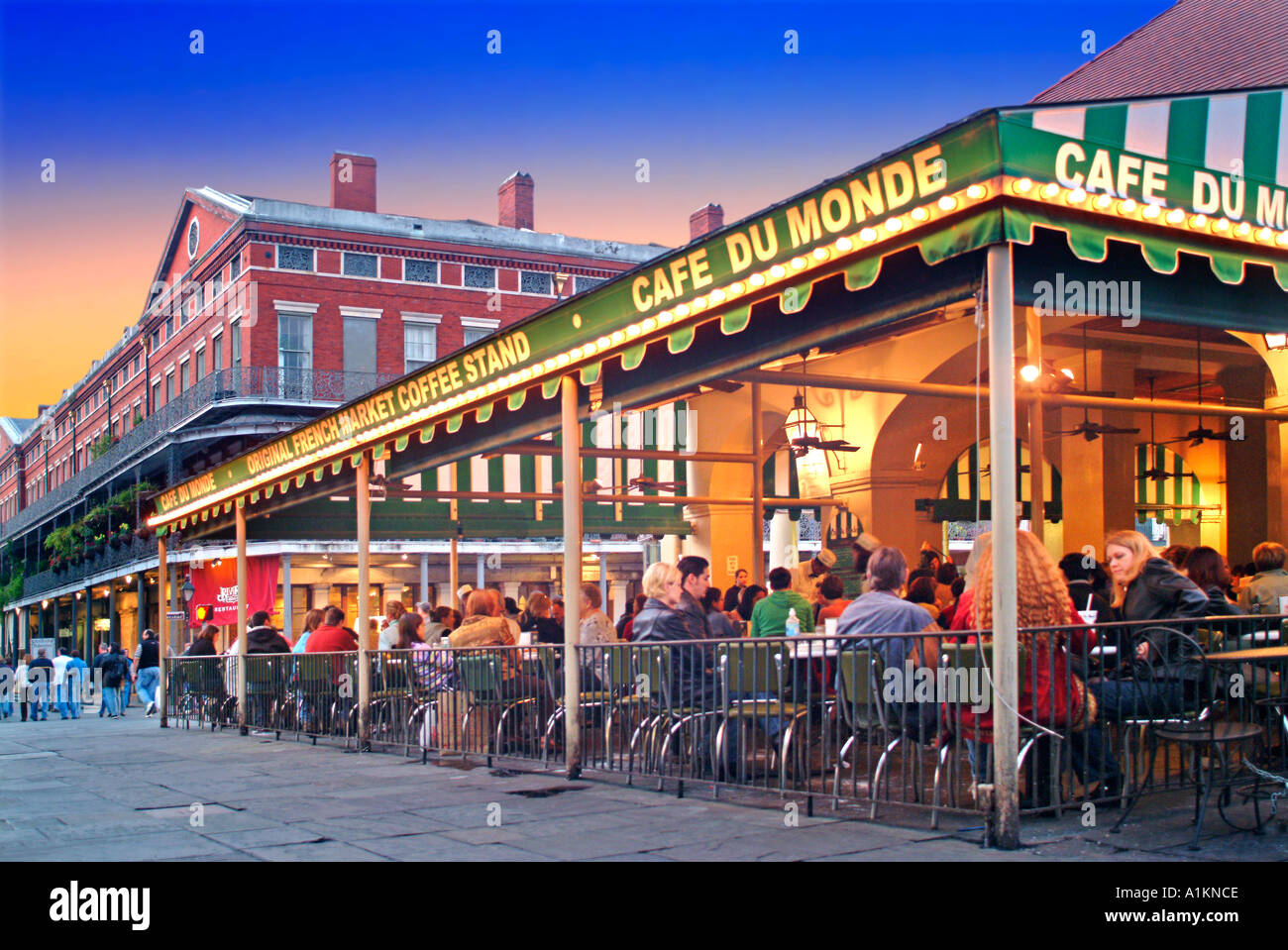new orleans french quarter caf du monde stock photo 3357133 alamy. Black Bedroom Furniture Sets. Home Design Ideas