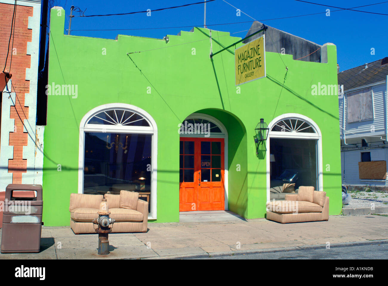 Secondhand Store In New Orleans Louisiana USA   Stock Image