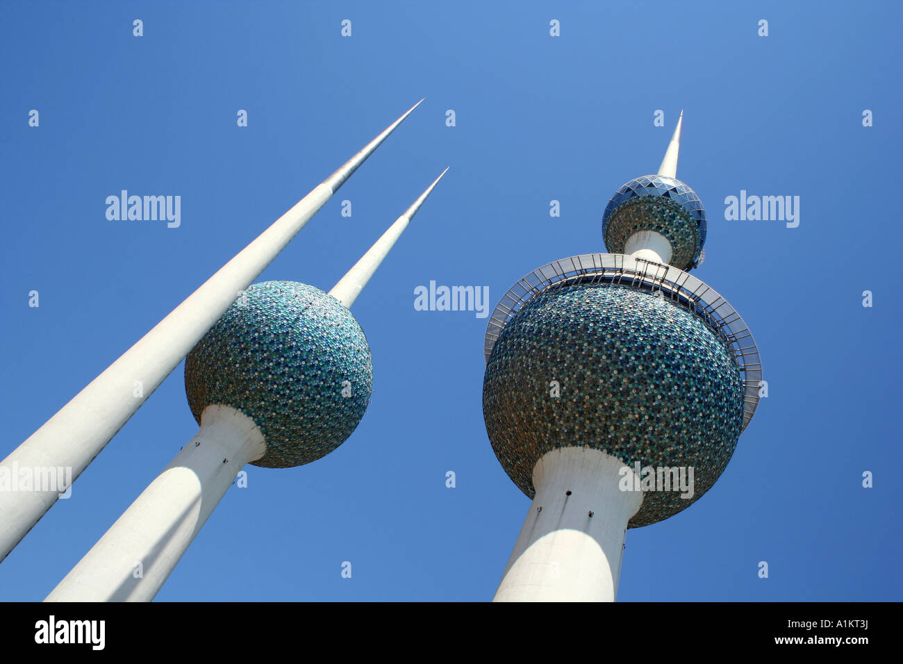 Kuwait towers in kuwait city - Stock Image