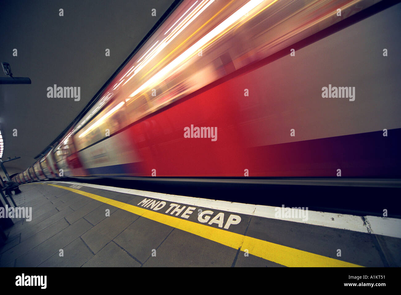 London Underground Platform Britain UK - Stock Image
