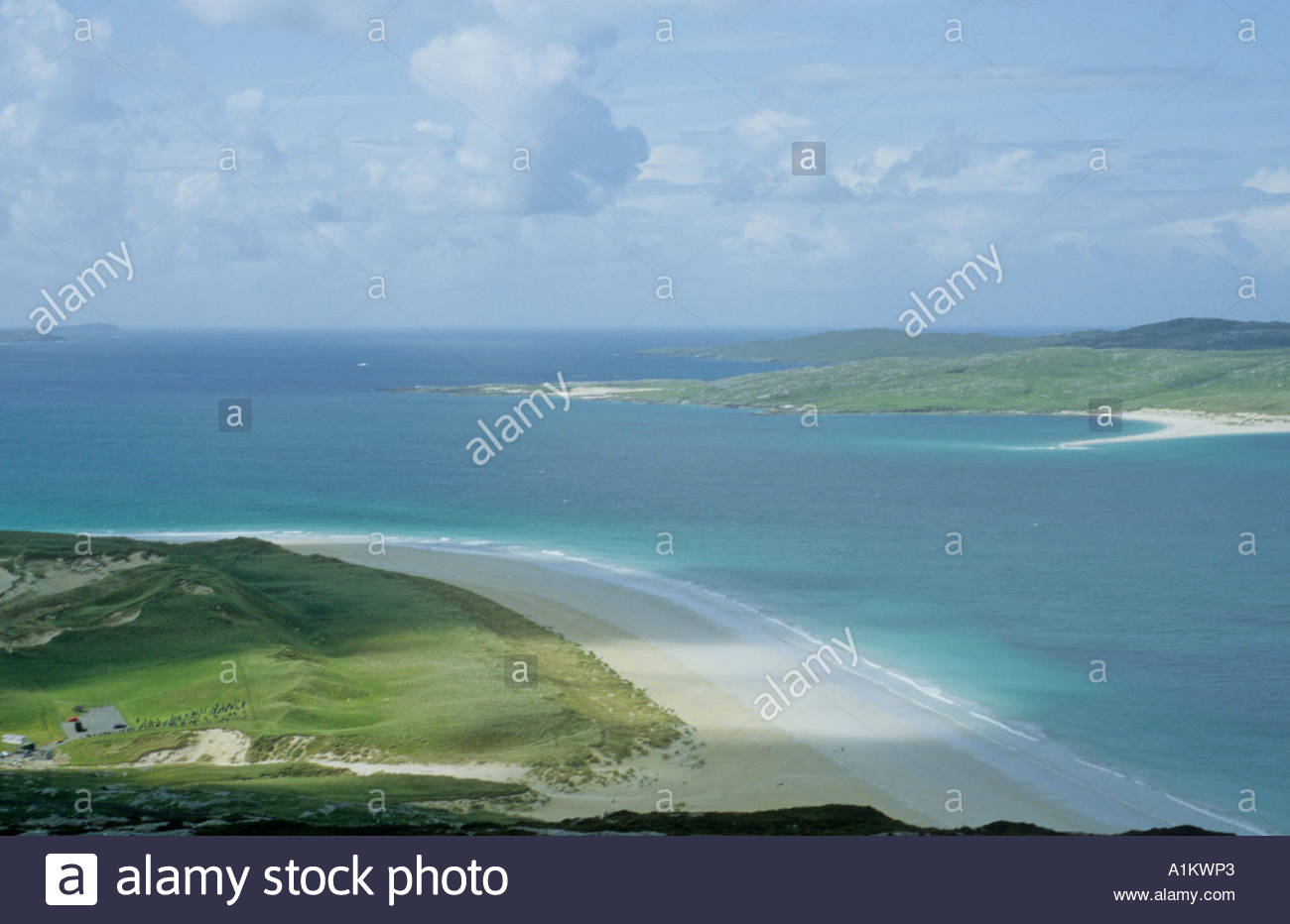 Luskentyre Beach in the Outer Hebrides - Stock Image