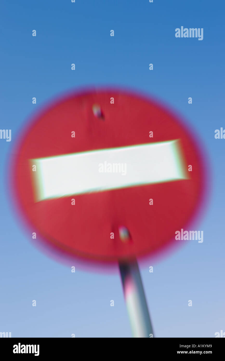 Abstracted No Entry traffic sign - Stock Image