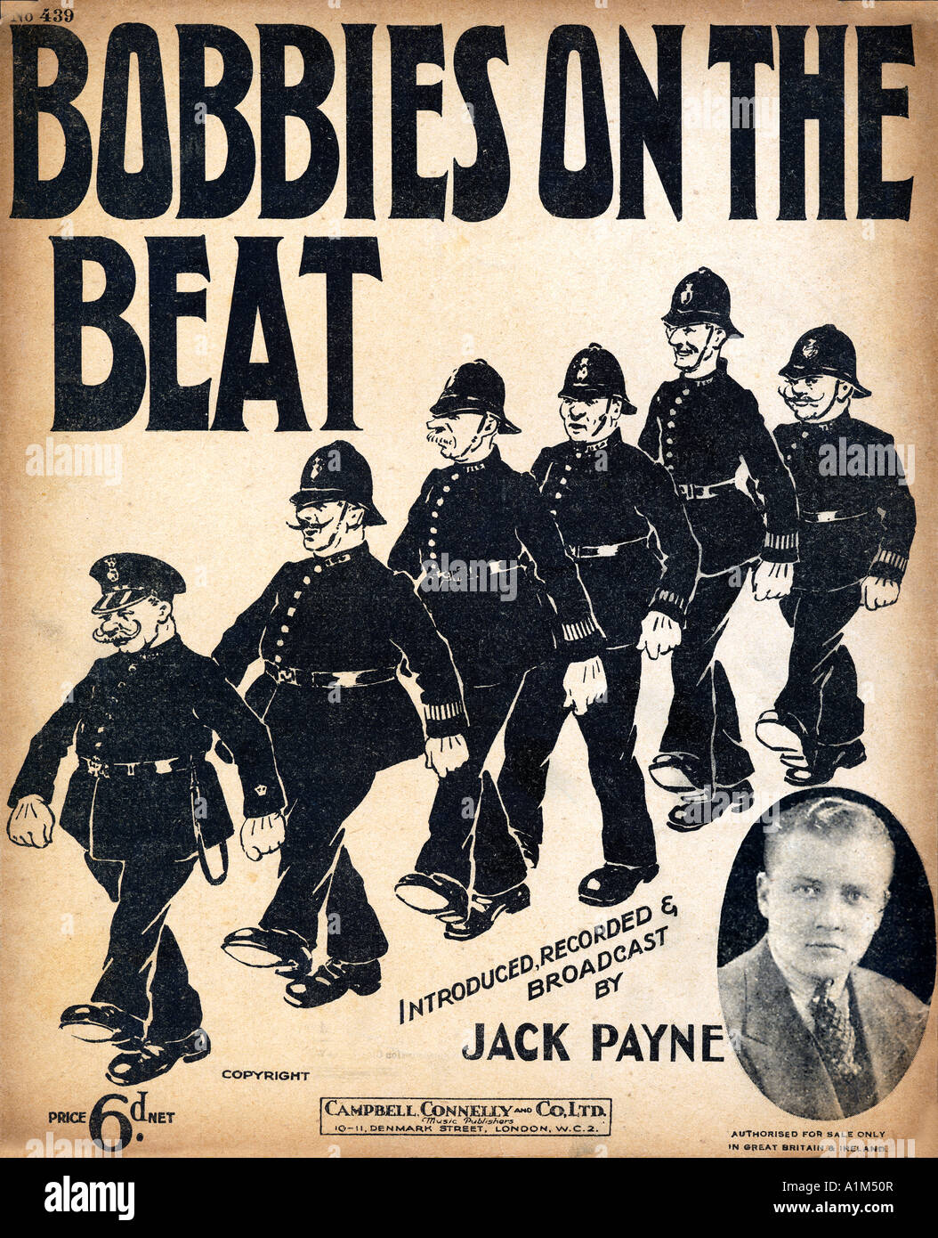 Bobbies On The Beat 1930 music sheet cover for a comic ...