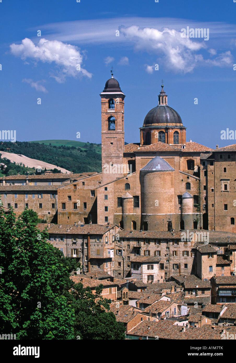 Palazzo Ducale, Urbino, Le Marche, Italy - Stock Image