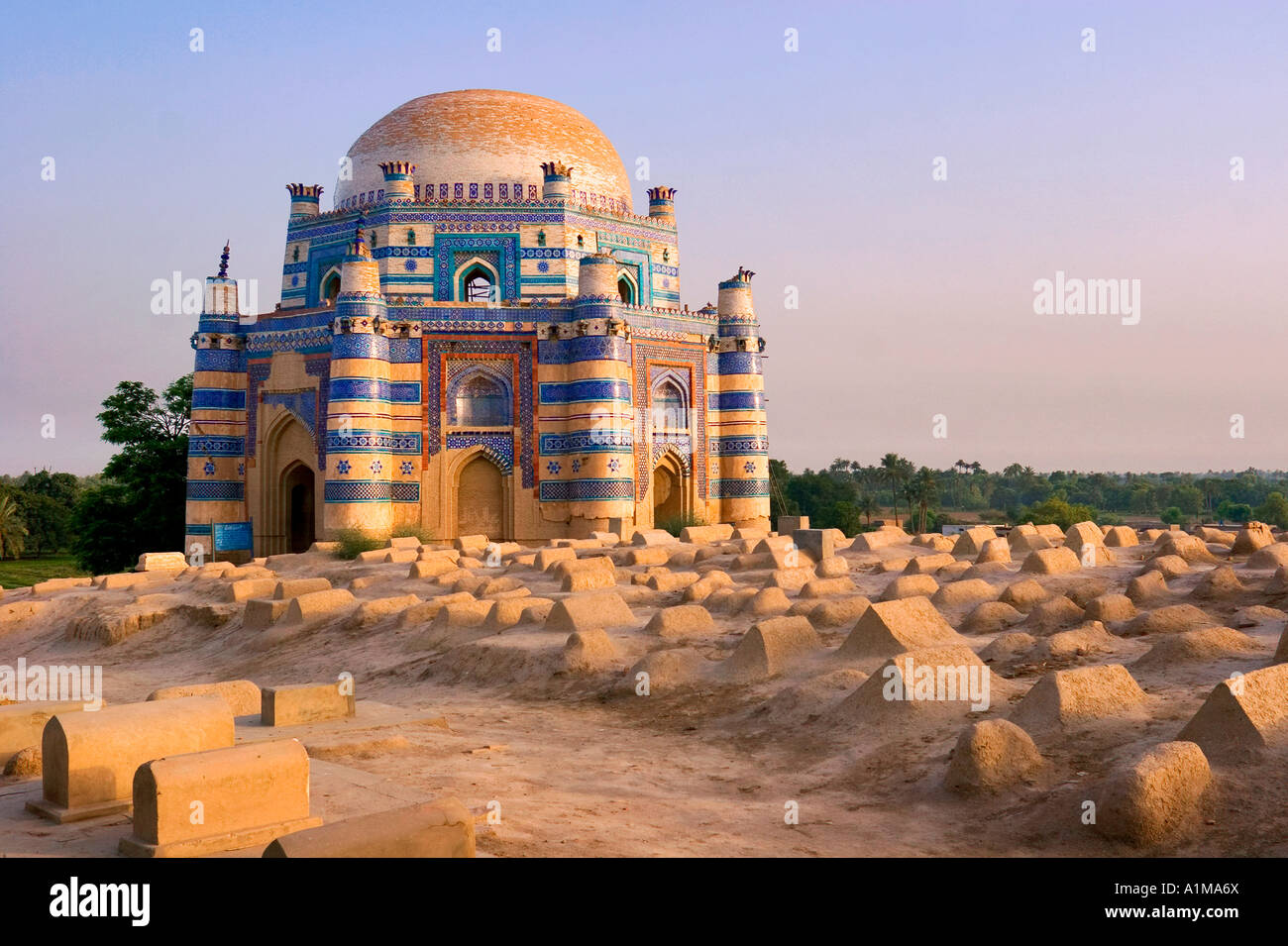 15th century Mausoleum of Bibi Jawindi, Uch Sharif, Pakistan - Stock Image