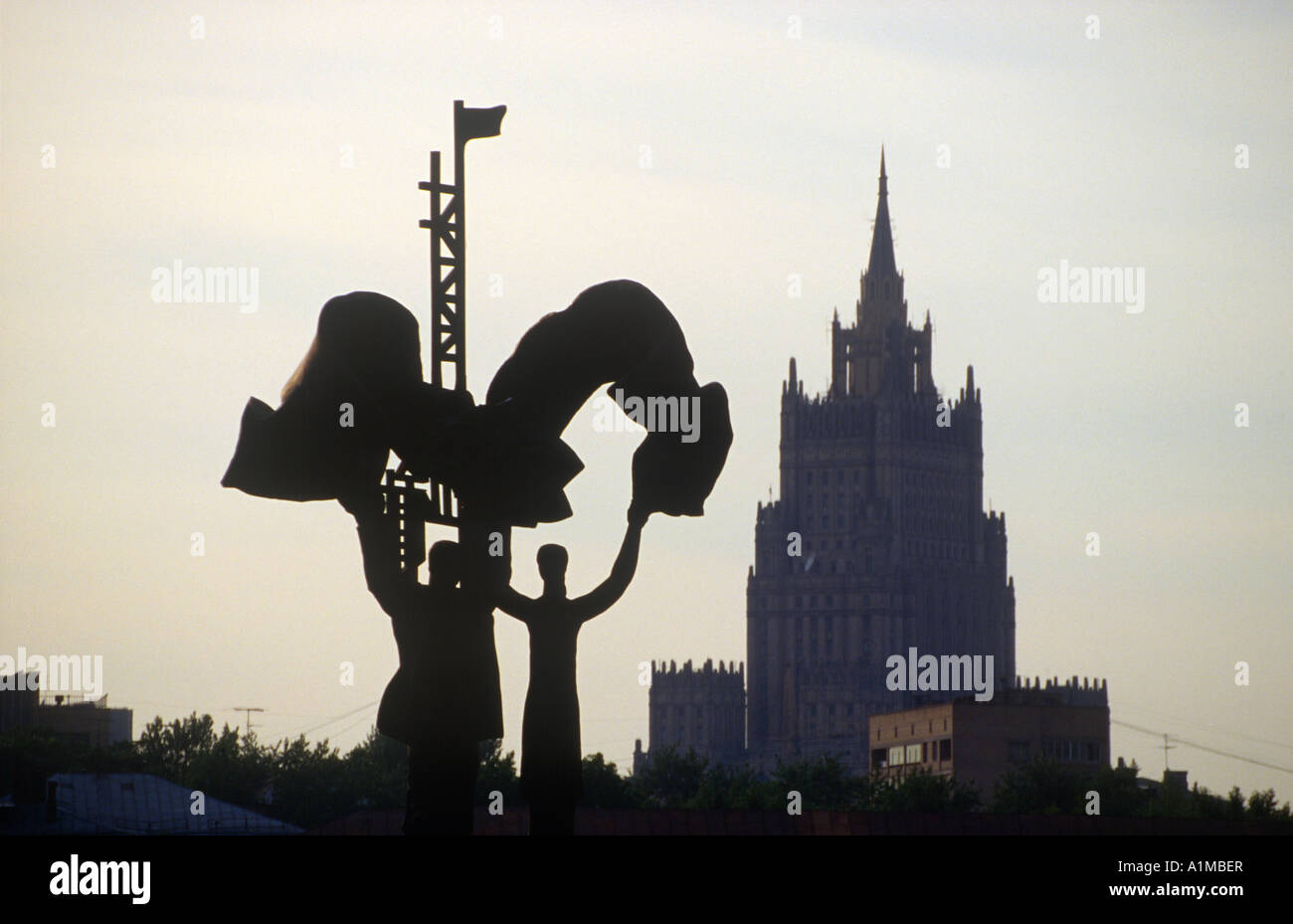 Stalinist skyscraper, Moscow, Russia - Stock Image