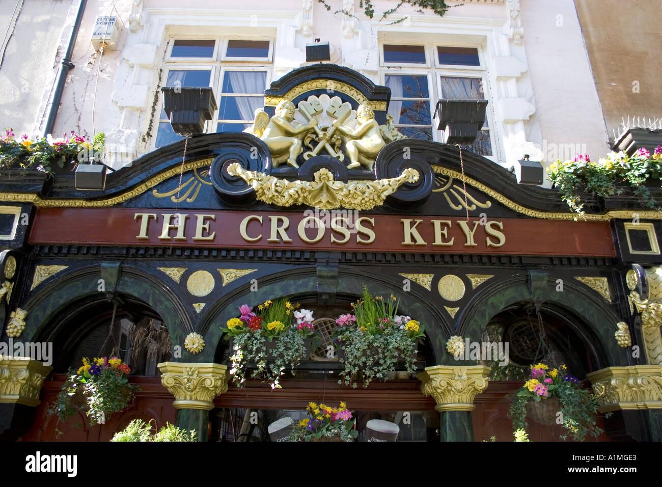 The Cross Keys public house Covent Garden London England UK Europe - Stock Image