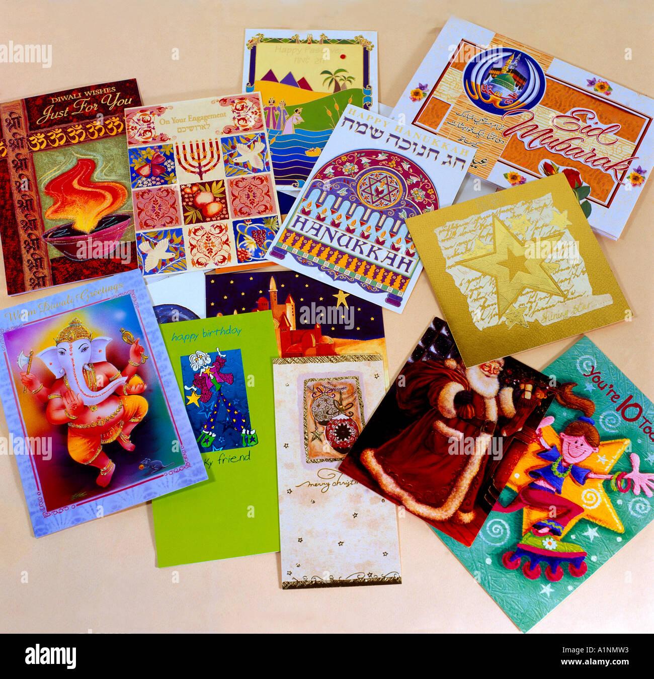 Greetings & Celebration Cards - Stock Image