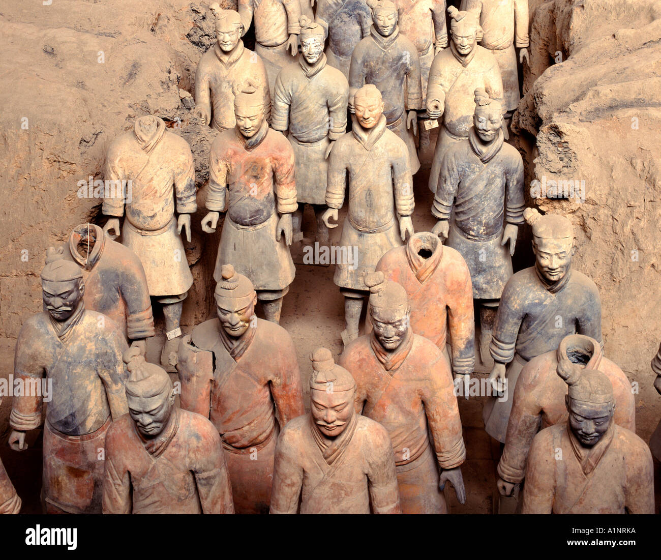Terracotta Warriors, Xian, China - Stock Image