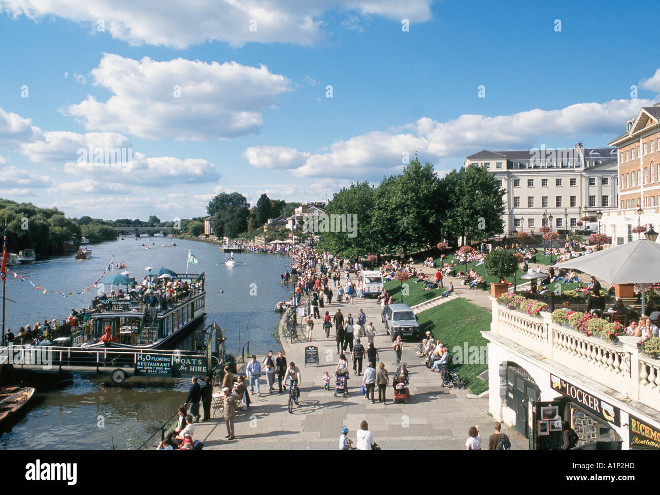 Richmond on Thames and the waterfront in Surrey Stock Photo
