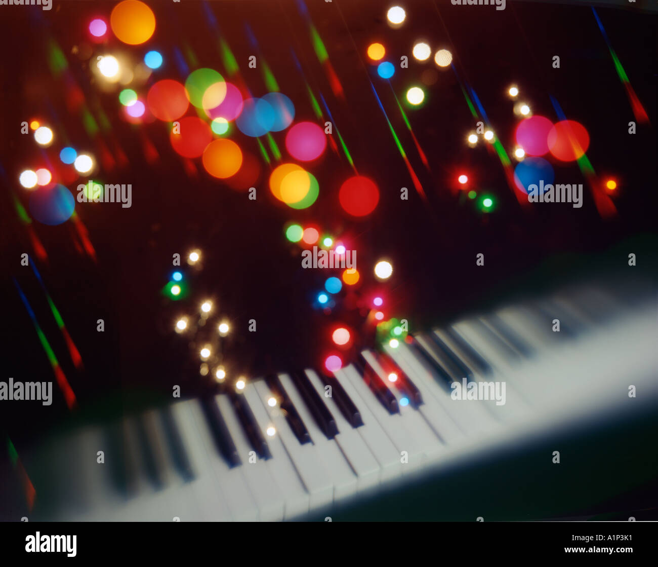 The piano and musical notes - Stock Image