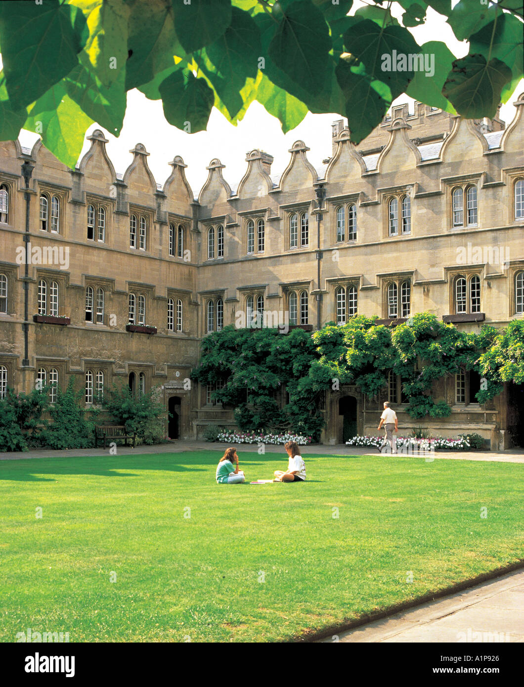 The Inner Quad Jesus College Oxford - Stock Image