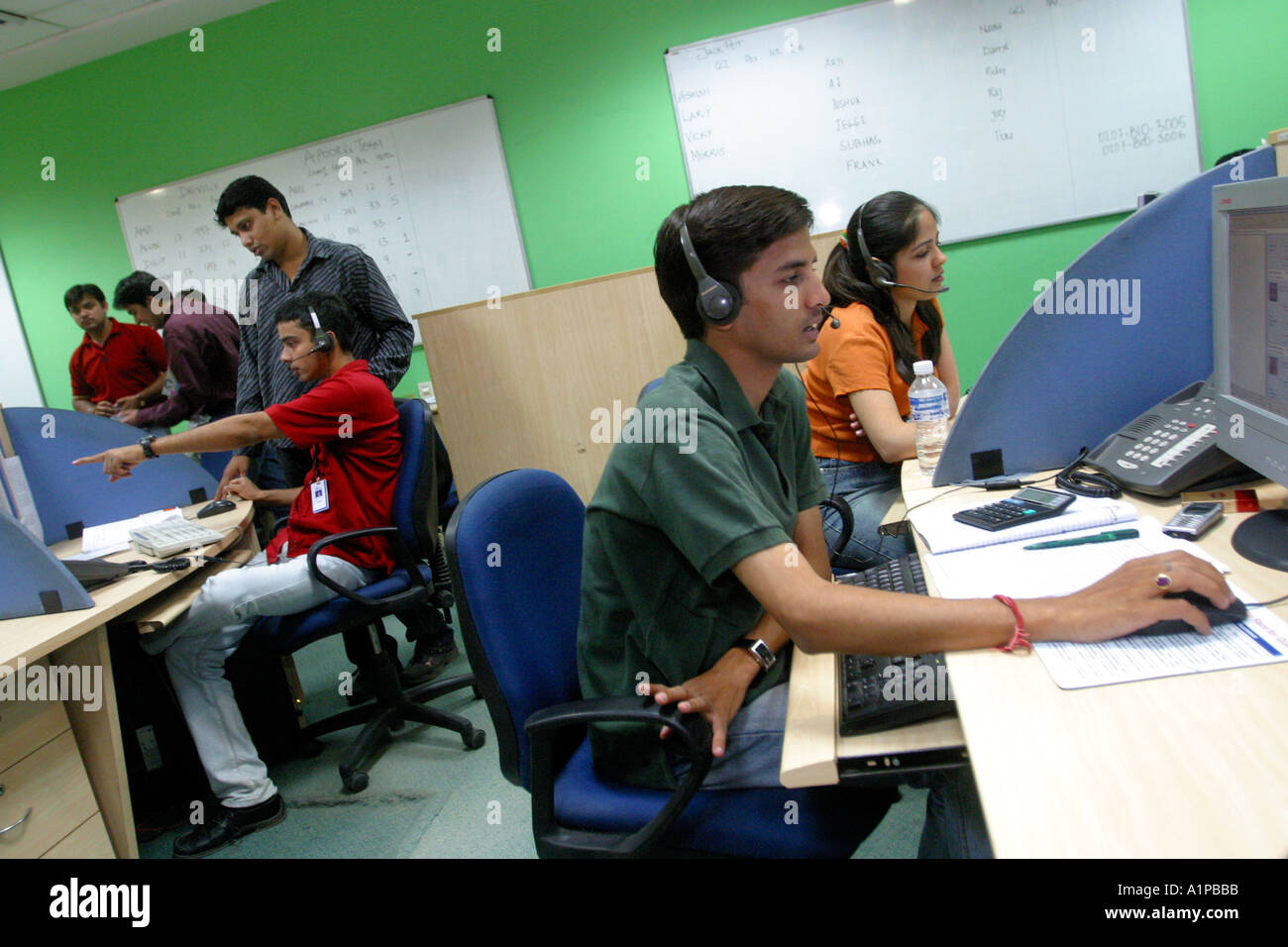 India Office Outsourcing Work Stock Photos & India Office