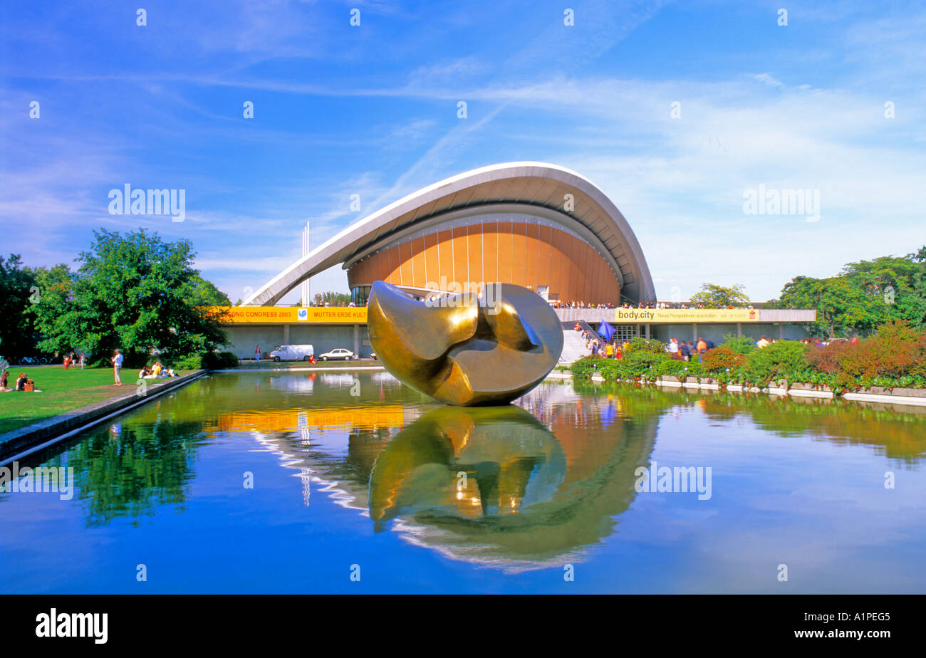 House of the Cultures of the World Berlin Germany - Stock Image