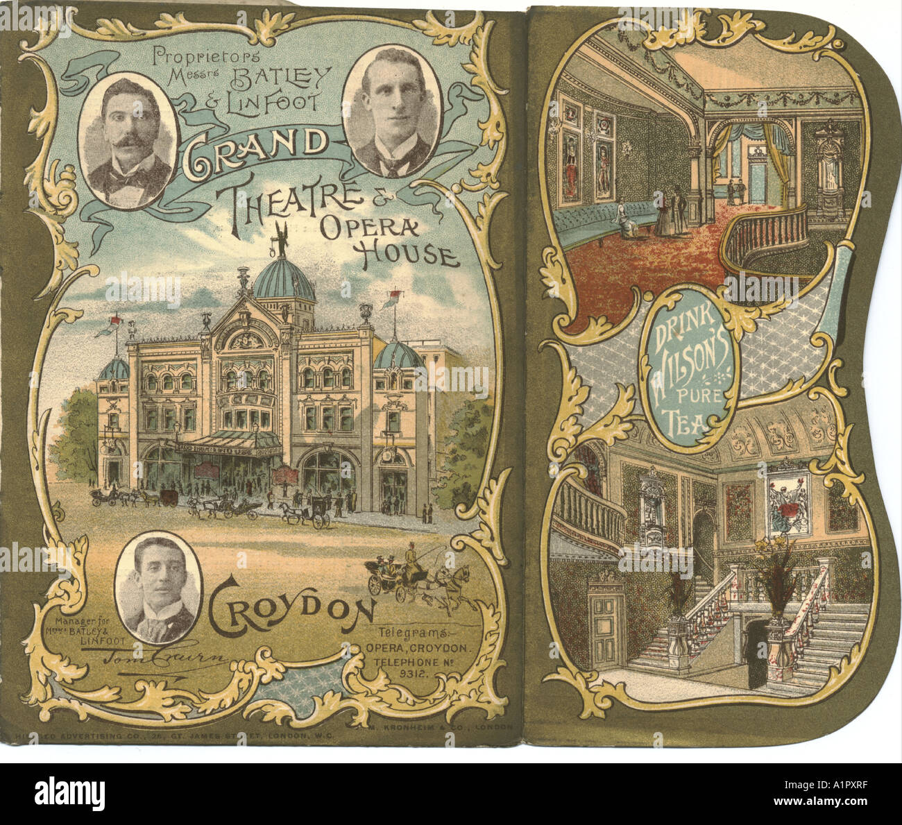 Grand Theatre & Opera House, Croydon, programme 1897 - Stock Image