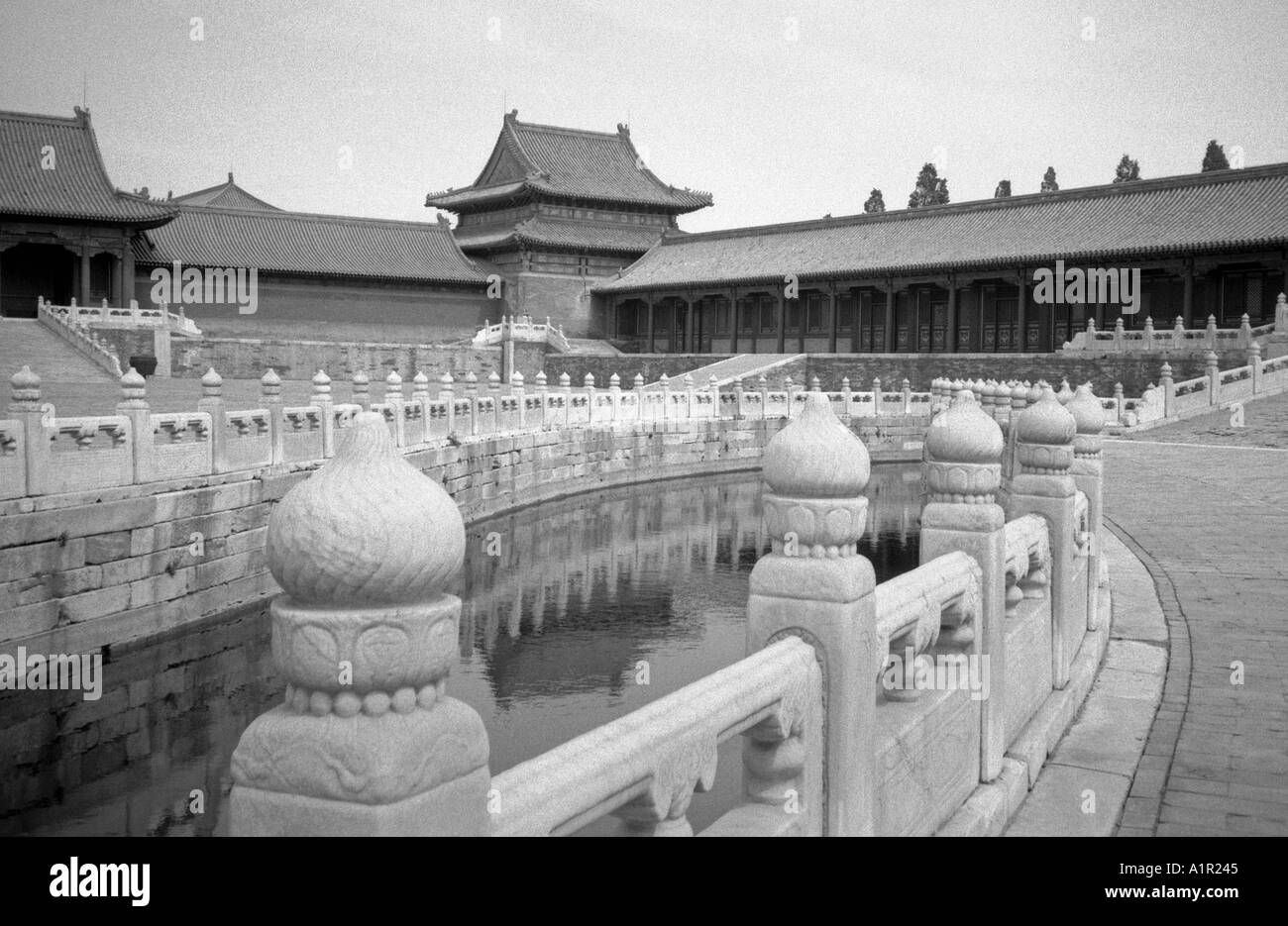 Inner Golden Water River Forbidden City Imperial Palace UNESCO World Heritage Site Beijing Peking China Chinese Asian Asia - Stock Image