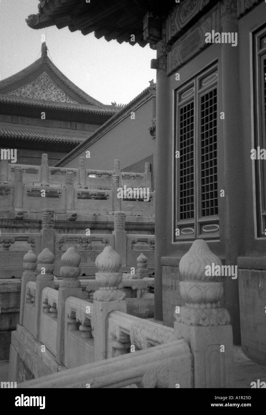 Forbidden City Imperial Palace UNESCO World Heritage Site Beijing Peking China Chinese Asian Asiatic Asia - Stock Image