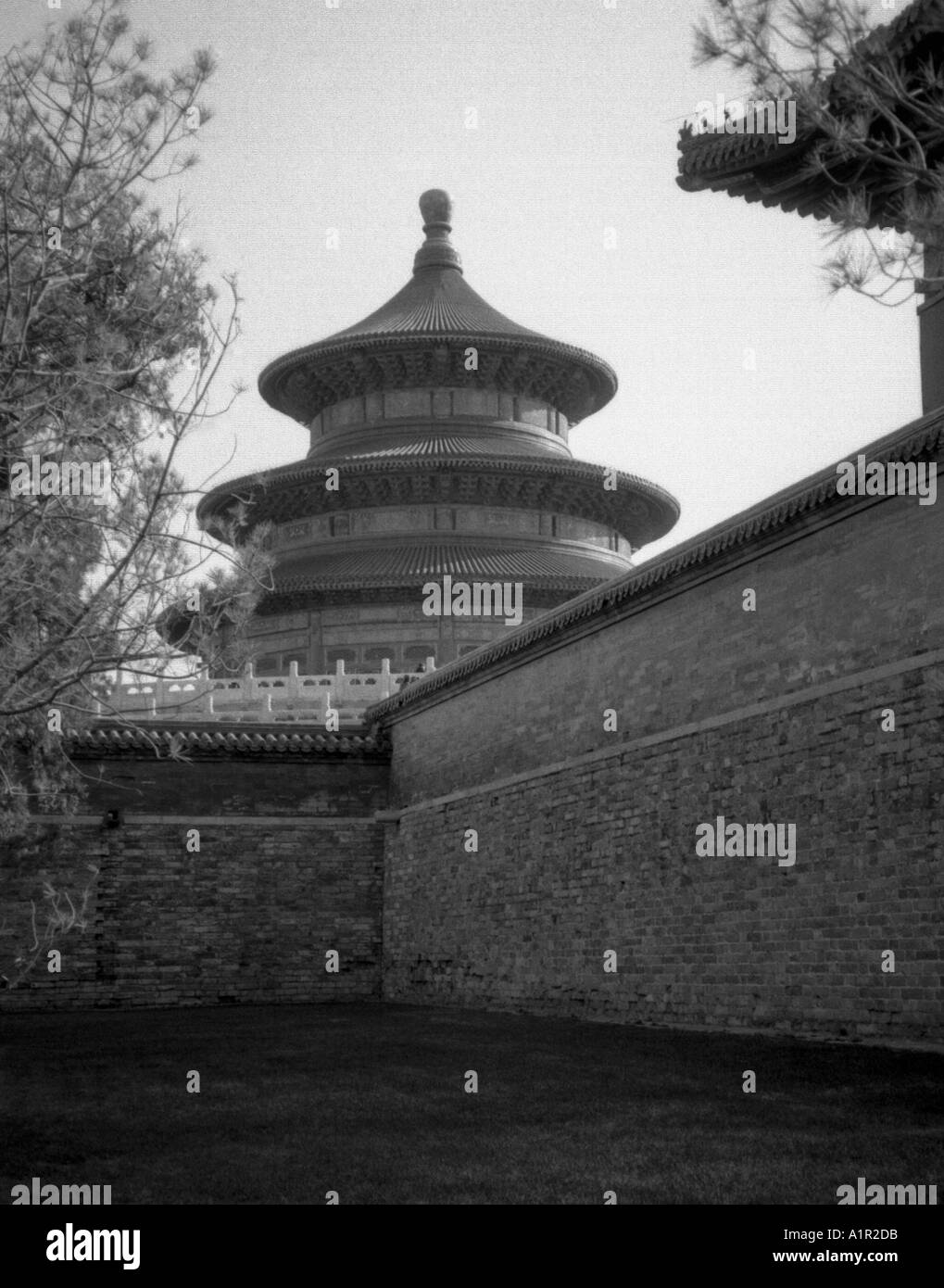 Hall of Prayer for Good Harvests Temple of Heaven UNESCO World Heritage Site Beijing Peking China Chinese Asian Asiatic Asia - Stock Image