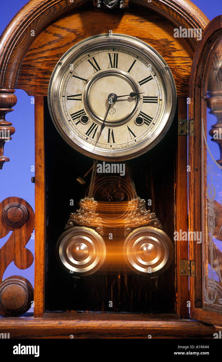Antique Pendulum Clock - Stock Image