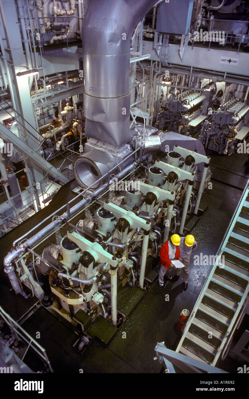 Spaceship Engine Room: Engine Room Methanol Tanker Ship Stock Photo: 1914513