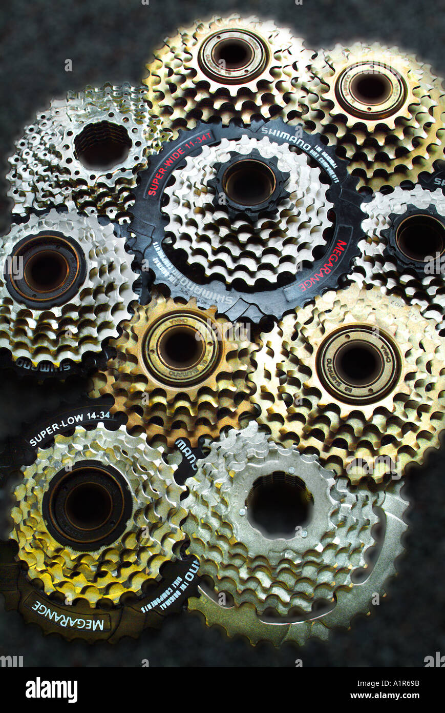 Bicycle Gears - Stock Image