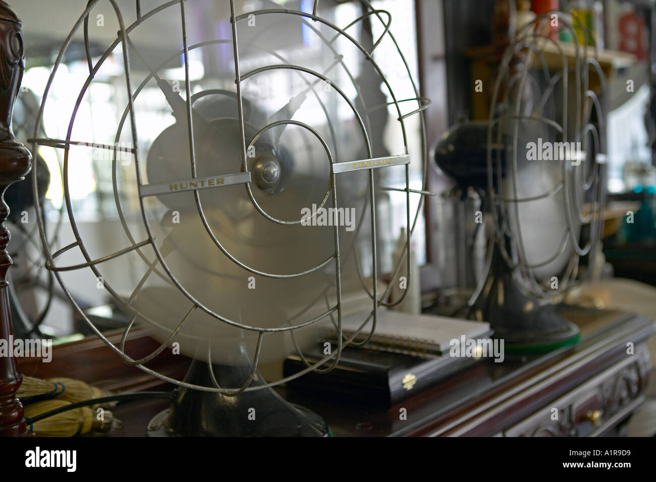 Antique Hunter Century fan in barber shop - Stock Image