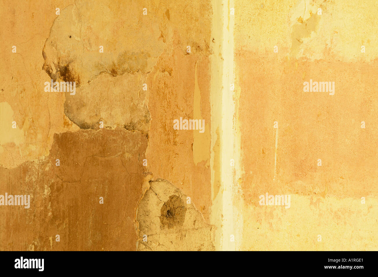 close up of texture on old wall - Stock Image