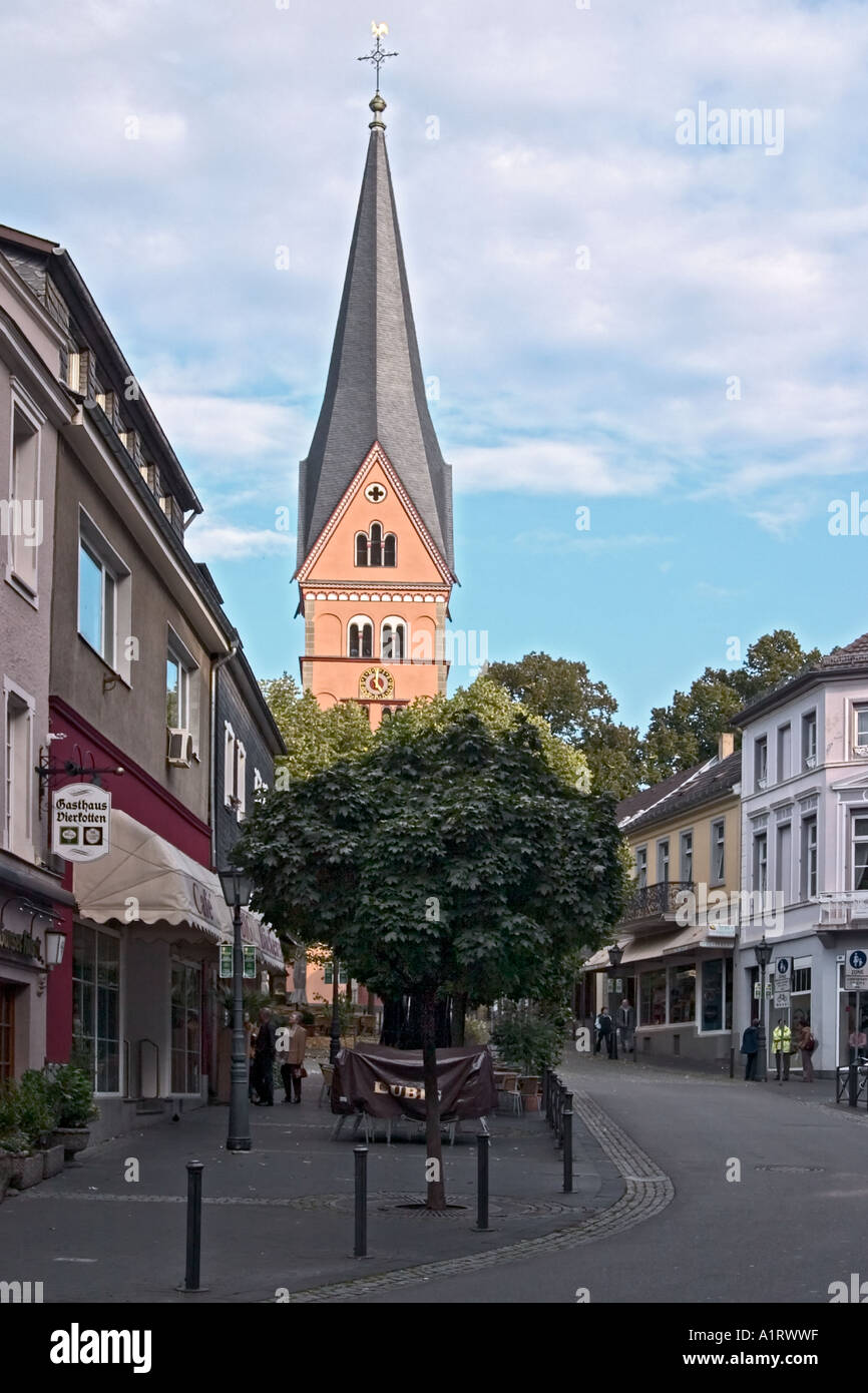 cityscape during autumn in bad honnef germany stock photo. Black Bedroom Furniture Sets. Home Design Ideas