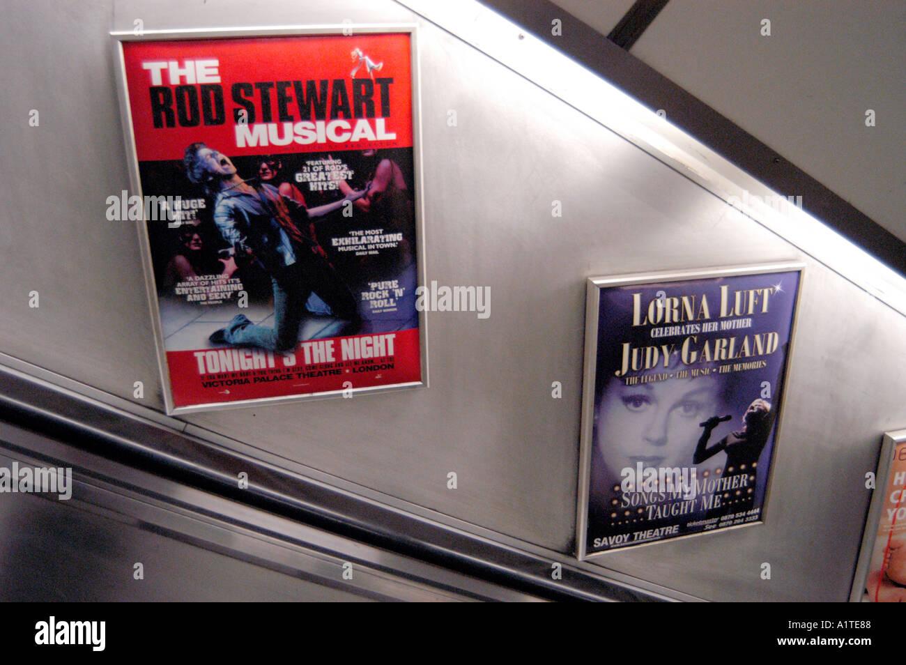 Adverts on the London underground - Stock Image