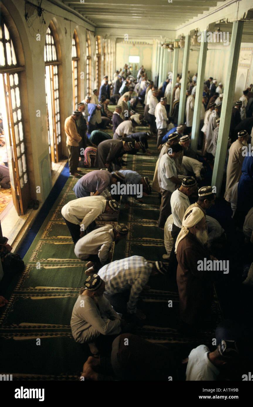 DUSHANBE MUSLIMS FRIDAY PRAYERS TAJIKISTAN - Stock Image