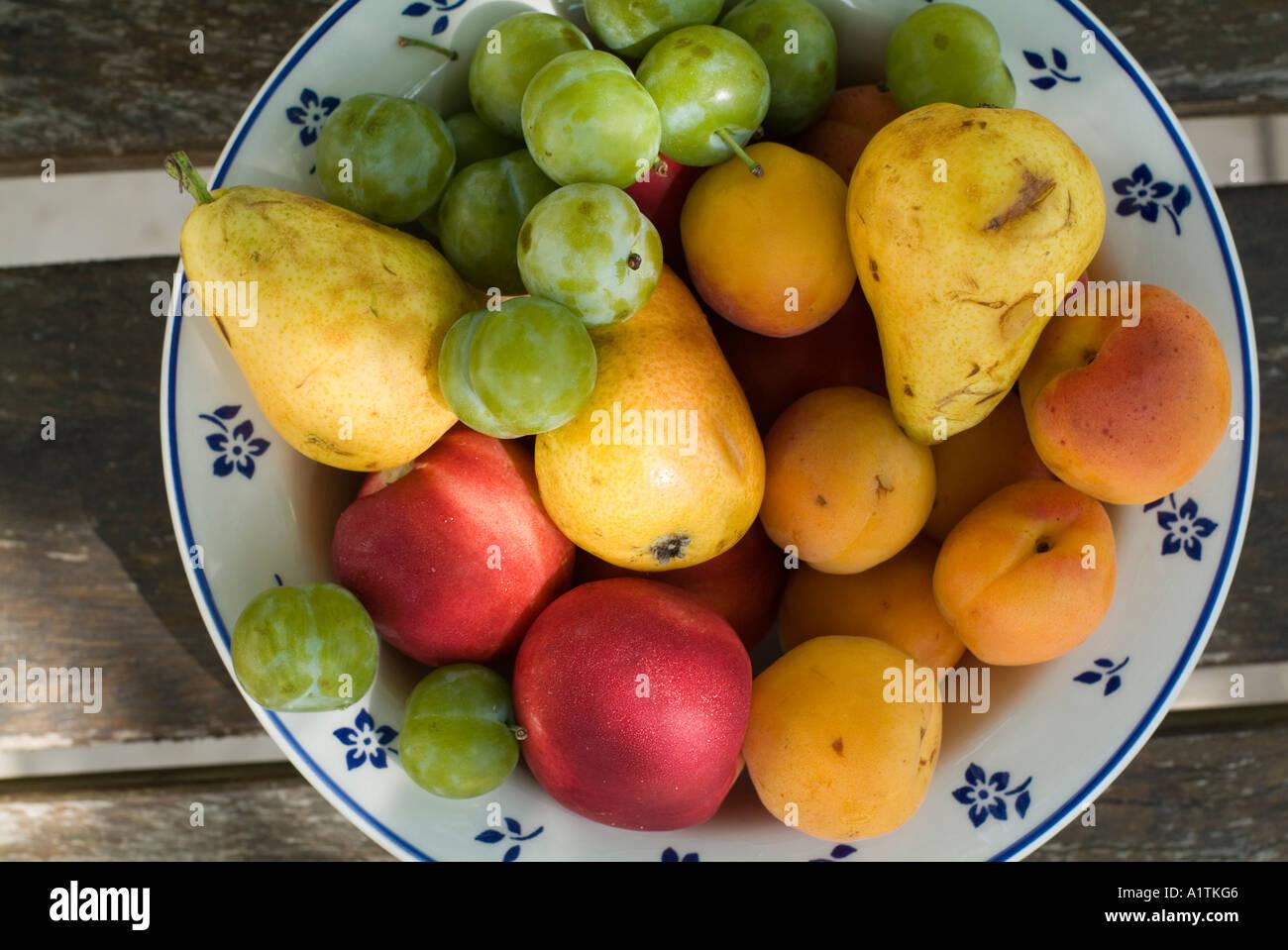 Summer fruit bowl - Stock Image