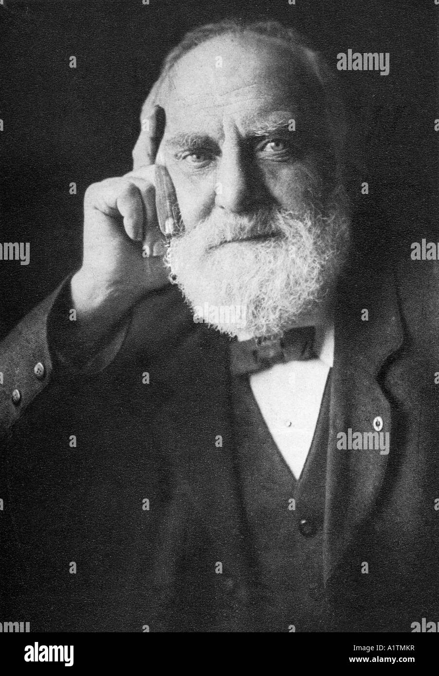William T Stead July 5 1849 to April 15 1912 English journalist publisher and social crusader - Stock Image