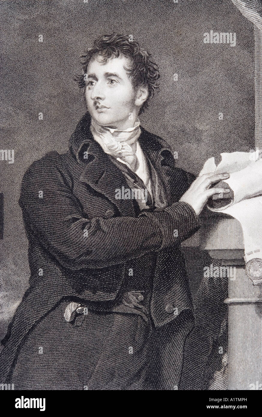 Sir Francis Burdett 1770 to 1844 English reformist politician Engraved by J Morrison after Sir Thomas Lawrence - Stock Image