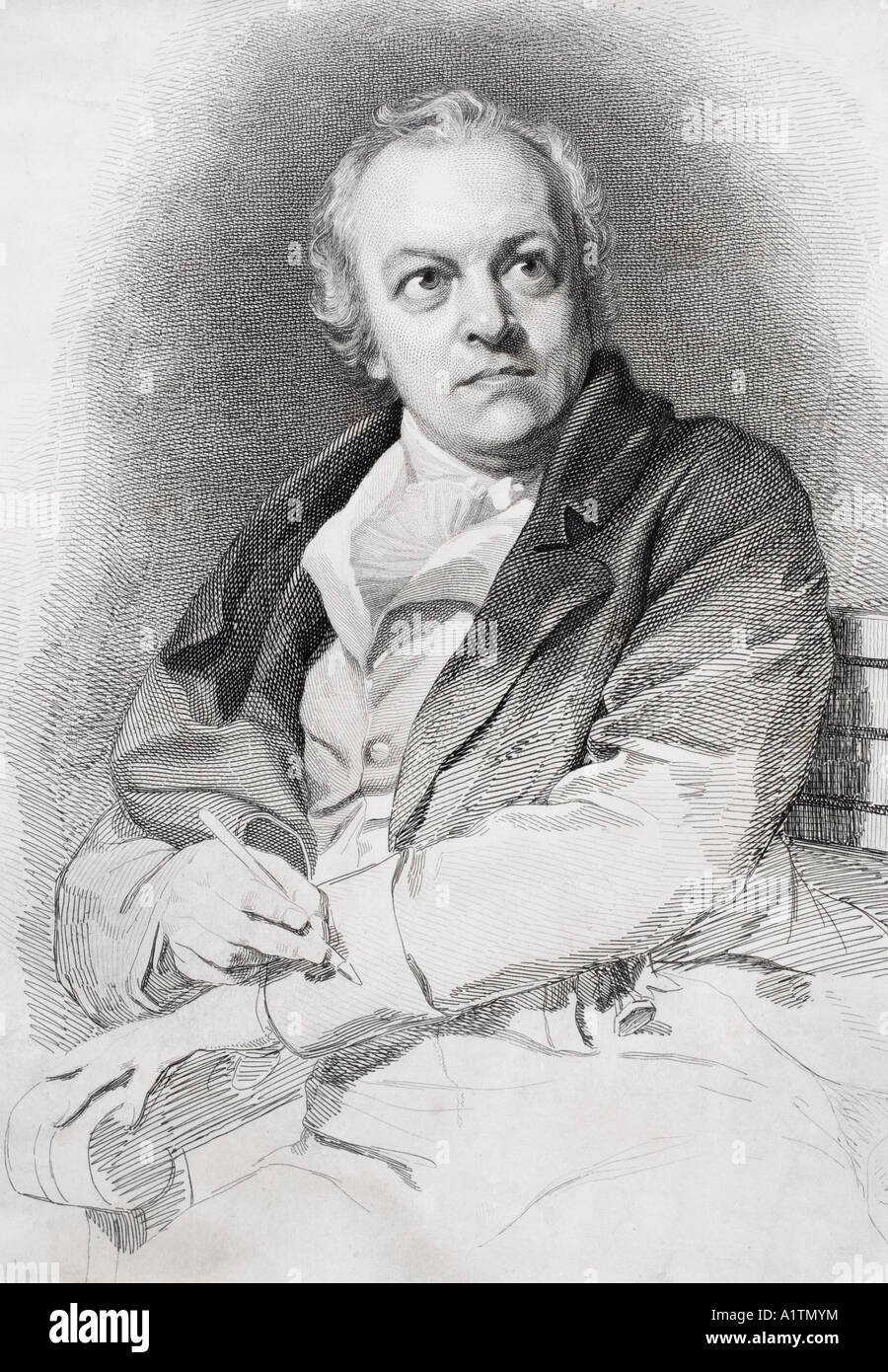 William Blake 1757 to 1857 English poet painter and printmaker - Stock Image