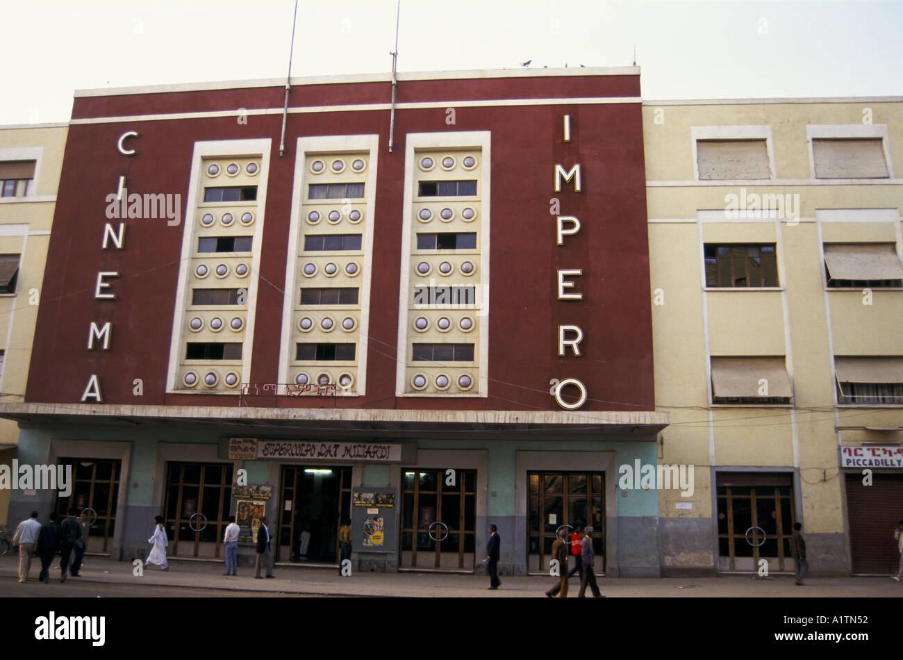 CINEMA IMPERO ERITREA 1993 - Stock Image