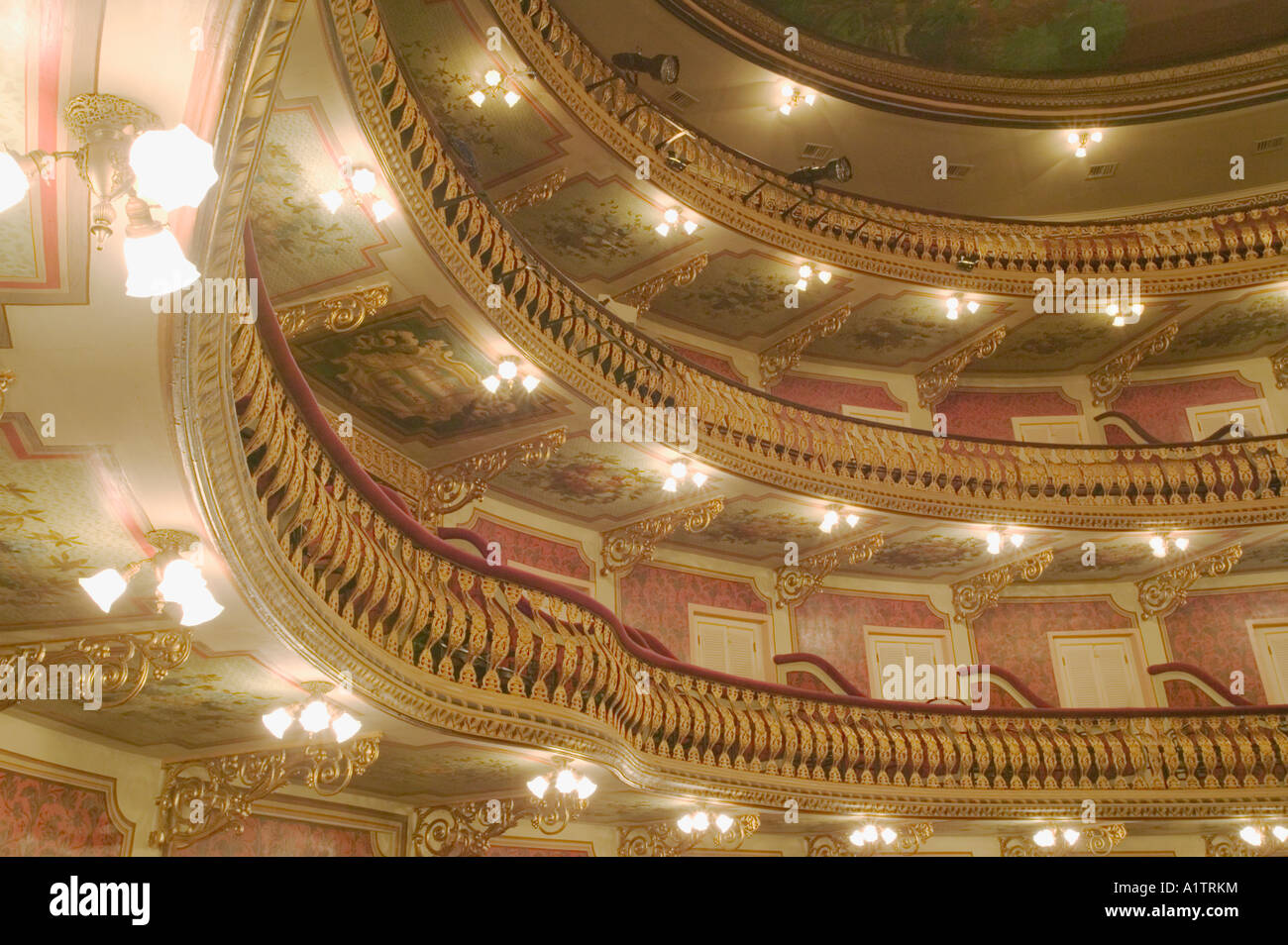 Balconies And Ornate Decor In The Teatro Do Paz The 19th Century
