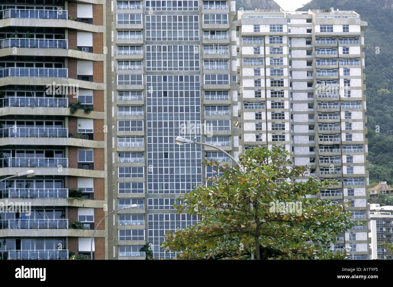 RIO DE JANEIRO. Modern Apartment Blocks Next To The Lake, Lagoa