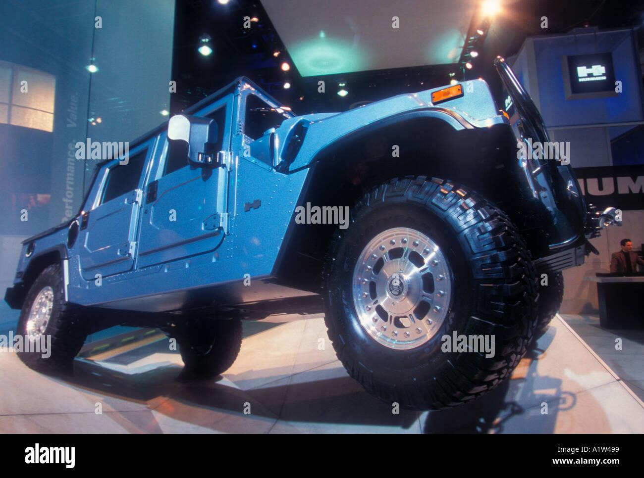 Detroit Michigan General Motors Hummer on display at the North American International Auto Show - Stock Image