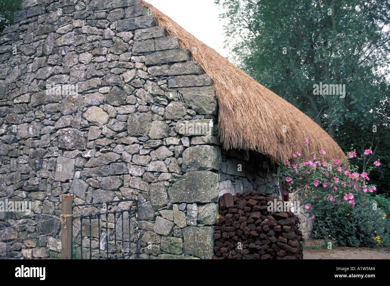 Ireland stone cottage - Stock Image