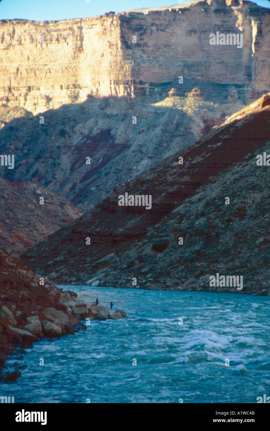 views of the colorado river in the grand canyon Stock Photo