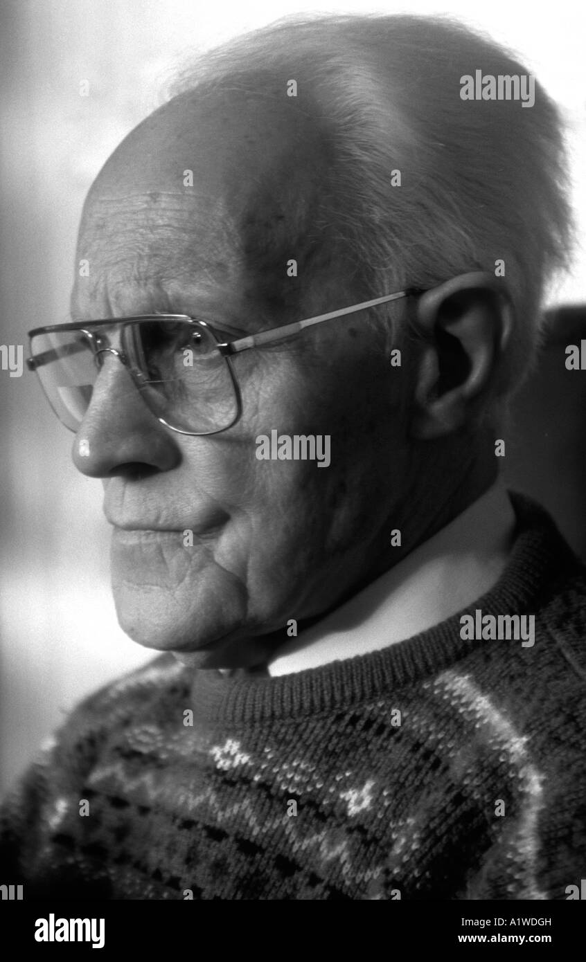 Profile Of A Man In His Eighties. - Stock Image
