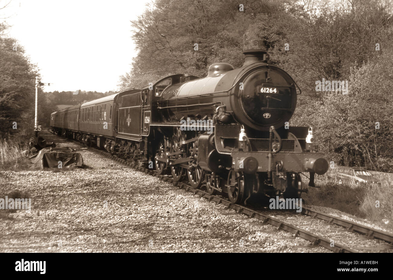 A Great Marquess Class Steam Train ,At The Churnet Valley Railway Center In Staffordshire England. - Stock Image