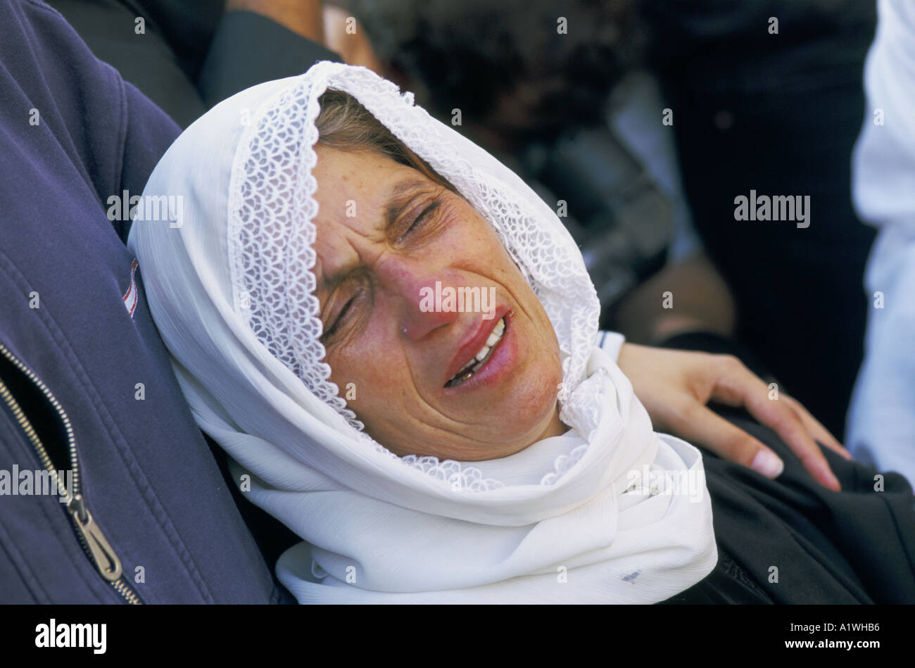 A mother mourns the death of her son killed during the Intifada - Stock Image