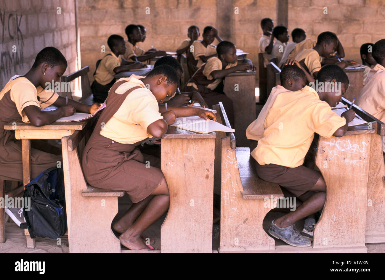 GHANA VOLTA PROVINCE PRIMARY SCHOOL 2000 - Stock Image