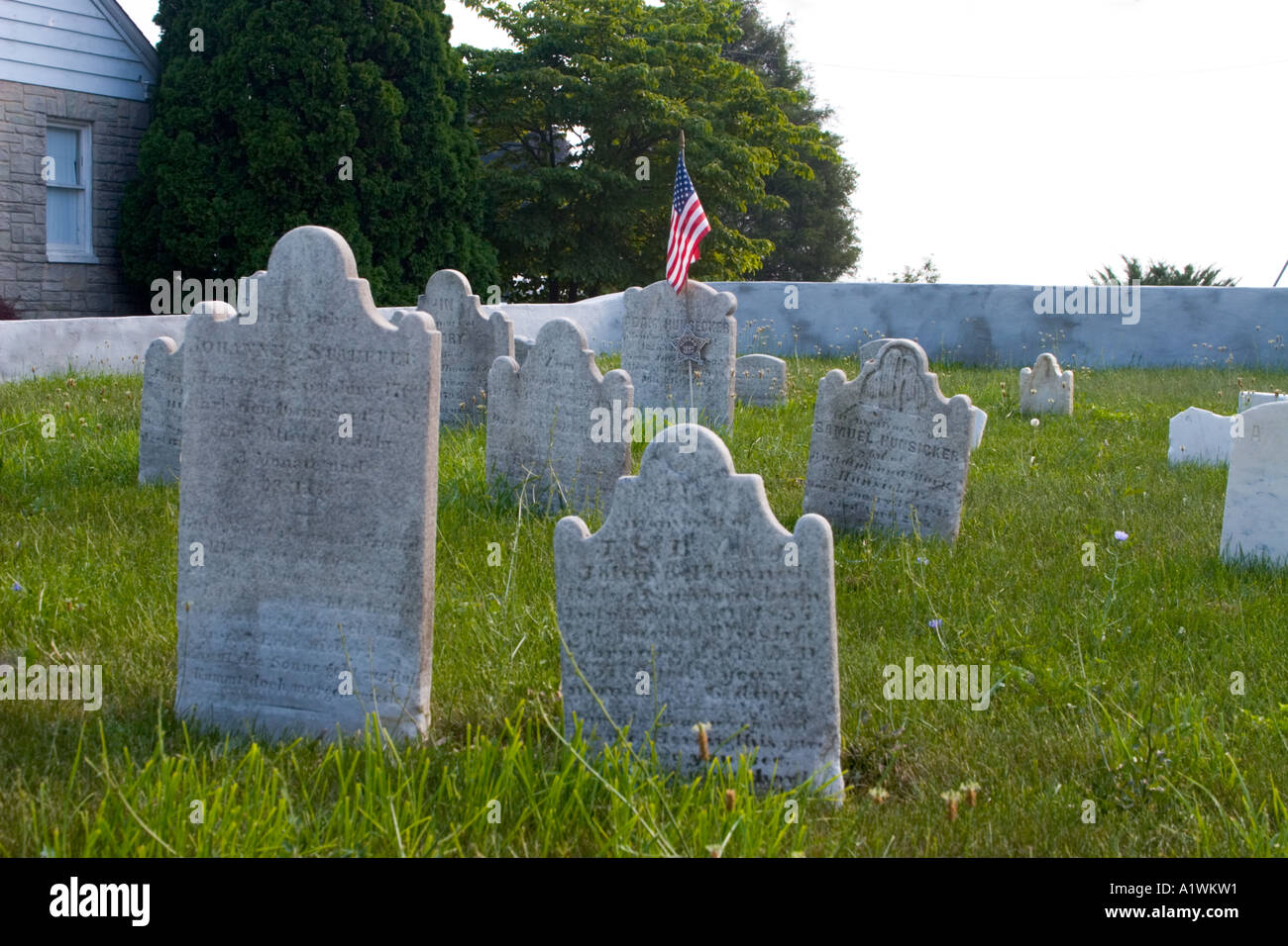 Frantz Cemetery in Paradise, PA at the intersection of Belmont and Harristown Roads. - Stock Image